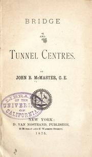 Cover of: Bridge and tunnel centres