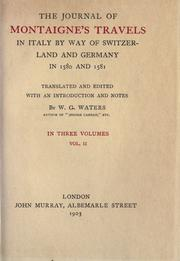 Cover of: Journal de voyage en Italie