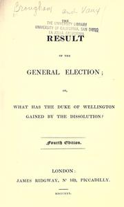 Cover of: The result of the general election