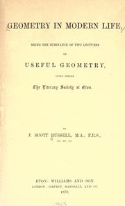 Cover of: Geometry in modern life
