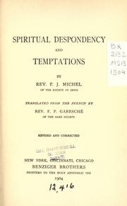 Cover of: Spiritual despondency and temptations | Michel, Jacques