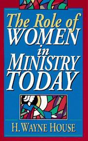 Cover of: The role of women in ministry today