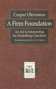 Cover of: A firm foundation