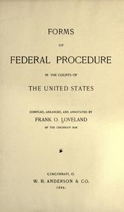 Cover of: Forms of federal procedure in the courts of the United States