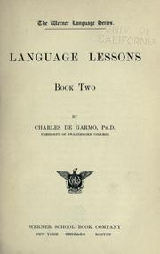 Cover of: Language lessons