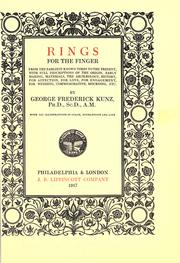 Cover of: Rings for the finger by George F. Kunz, George Frederick Kunz