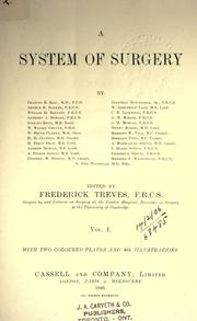 Cover of: A system of surgery