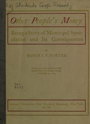 Cover of: Other people's money