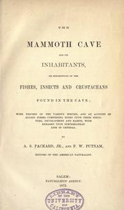 Cover of: The Mammoth Cave and its inhabitants