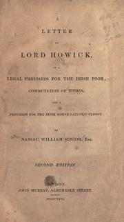 Cover of: A letter to Lord Howick