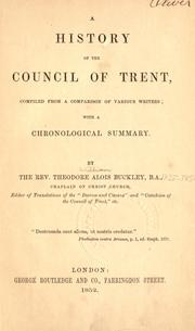 Cover of: A history of the Council of Trent | Theodore Alois Buckley