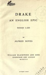 Cover of: Drake, an English epic, books 1-12