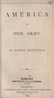 America and her army by Mackenzie, Robert