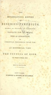 The Ecclesiastical History of Eusebius Pamphilus: Bishop of Cesarea, in Palestine by William Eusebius Andrews