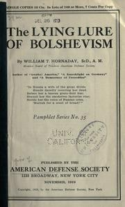 Cover of: The lying lure of bolshevism