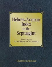 Cover of: Hebrew/Aramaic index to the Septuagint: keyed to the Hatch-Redpath concordance