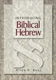 Cover of: Introducing Biblical Hebrew