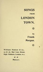 Cover of: Songs from London town