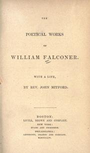 Cover of: The poetical works of William Falconer by