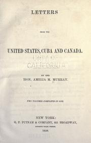 Cover of: Letters from the United States, Cuba and Canada
