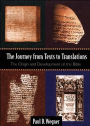Cover of: The journey from texts to translations