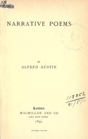 Cover of: Narrative poems
