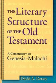 Cover of: The Literary Structure of the Old Testament