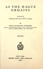 As the Hague ordains by Eliza Ruhamah Scidmore
