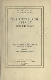 Cover of: The Pittsburgh survey by Paul Underwood Kellogg