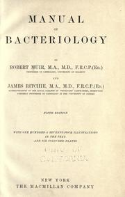 Cover of: Manual of bacteriology