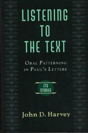 Cover of: Listening to the Text | Harvey, John D.