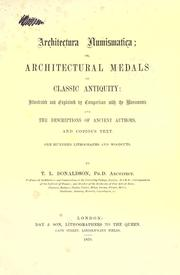 Cover of: Architectura numismatica