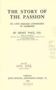Cover of: The story of the passion
