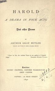 Cover of: Harold, a drama in four acts and other poems