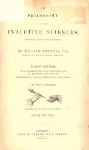 Cover of: The philosophy of the inductive sciences