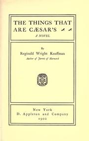 Cover of: The things that are Caesar's