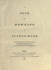 Cover of: A tour from Downing to Alston-Moor