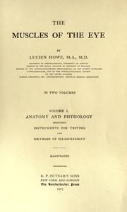 The muscles of the eye by Howe, Lucien
