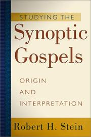 Cover of: Studying the Synoptic Gospels,