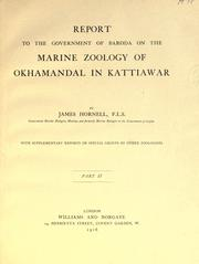 Cover of: makanpur (361335) Report to the government of Baroda on the marine zoology of Okhamandal in Kattiawar