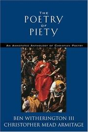 Cover of: The poetry of piety |