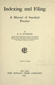 Cover of: Indexing and filing