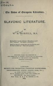 Cover of: Slavonic literature