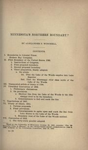 Cover of: Minnesota's northern boundary