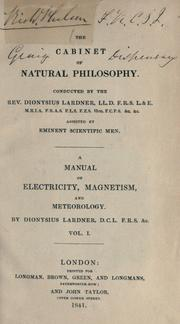 Cover of: A manual of electricity, magnetism and meteorology