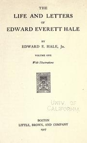 Cover of: The life and letters of Edward Everett Hale | Edward Everett Hale