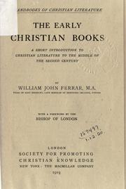 Cover of: The early Christian books