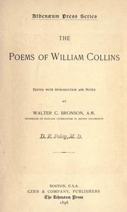 Cover of: The poems of William Collins