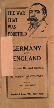 Cover of: The war that was foretold, Germany and England
