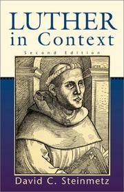 Cover of: Luther in context